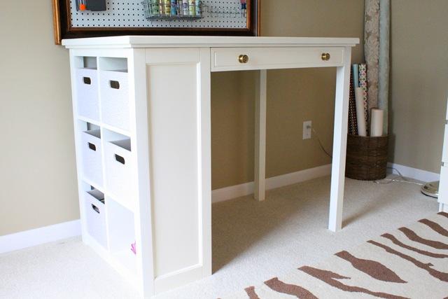 pottery barn craft desk just a girl blog. Black Bedroom Furniture Sets. Home Design Ideas