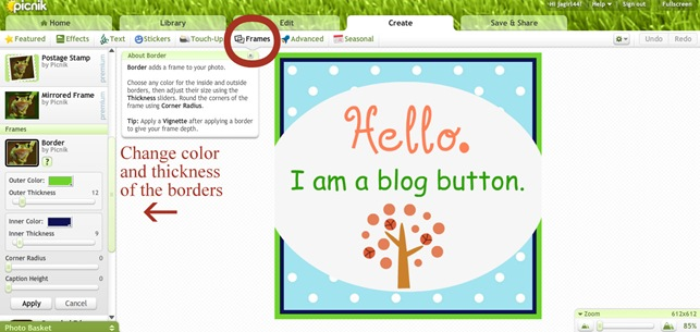 blog button help