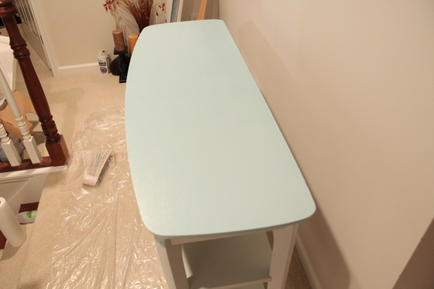 painting turquoise table