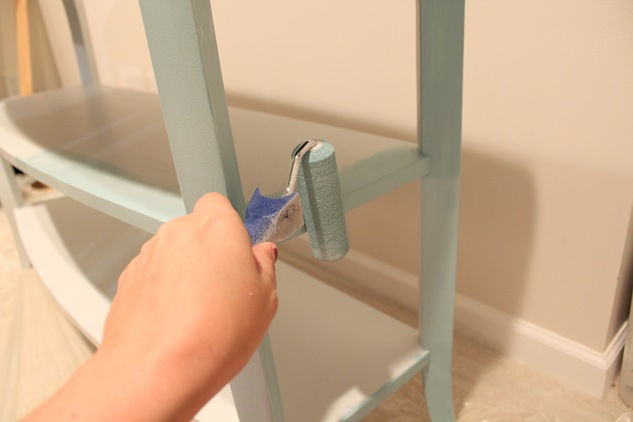 painting furniture with a roller