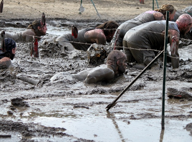warrior dash mud bog