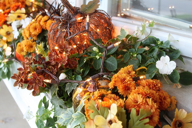 fall flower box