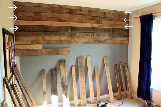 DIY Pallet Wall {Part 2