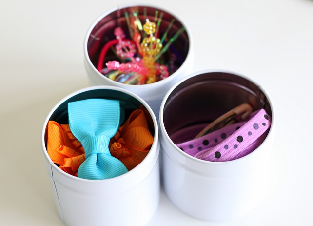 tins and hair bows