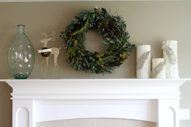 evergreen mantel