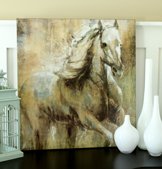 horse on canvas