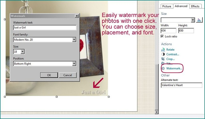 how to add watermark