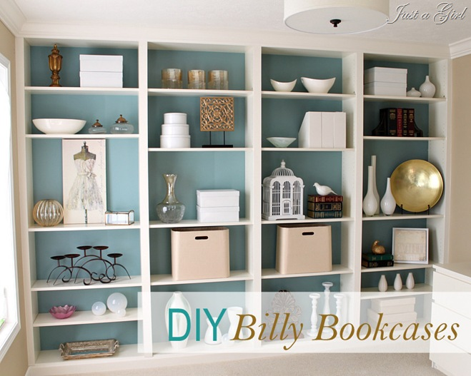 white billy bookcase 1