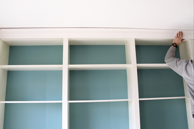 billy bookcase crown molding 1