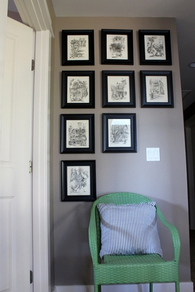 the inspired room gallery wall