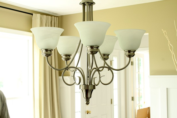 brushed chandelier