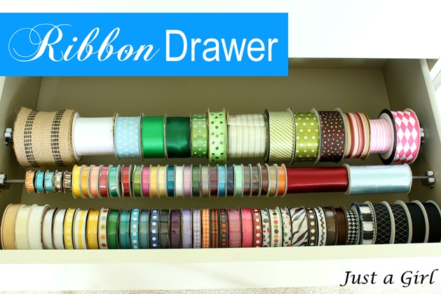 Ribbons in drawer