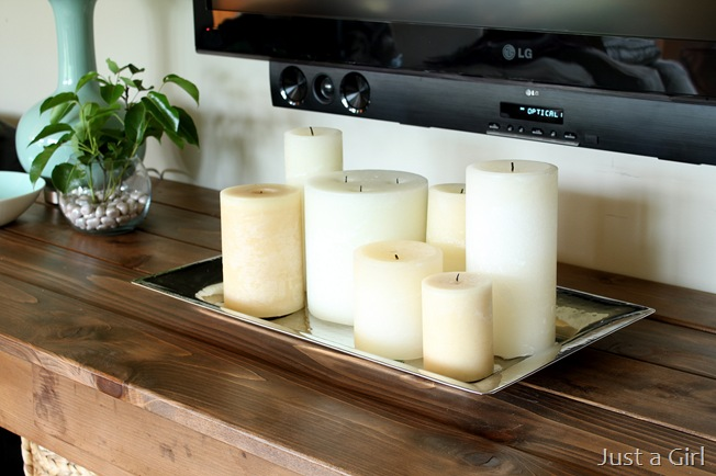 candle tray