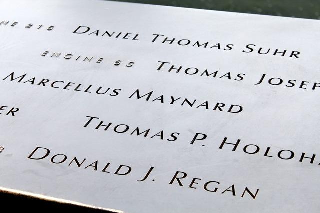 911 memorial names