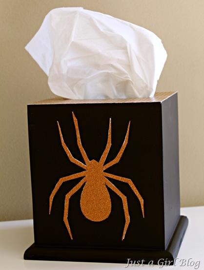 Halloween spider tissue box