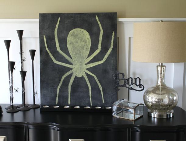 spider chalkboard