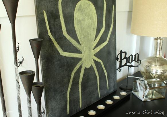 chalkboard spider